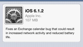 Apple Releases iOS 6.1.2 To fix Microsoft Exchange Bug