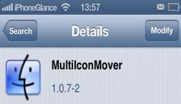 Move Multiple Icons at a time with Cydia app MultiIconMover