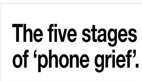 The Stages of Phone Grief by Three Network