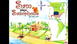Sam Plays Saxophone, Great App For Kids