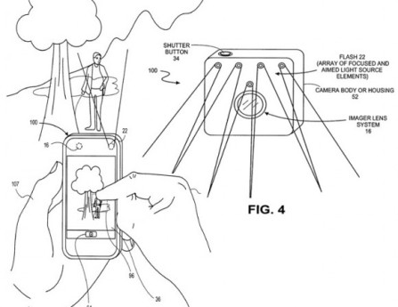 Apple Patent Describes New Camera Flash Redirector System