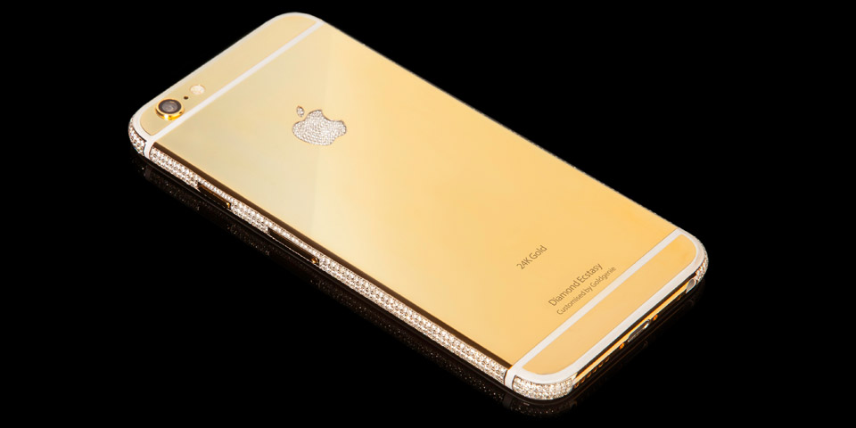 24 karat gold iPhone 6 encrusted with diamonds costs $3.49m