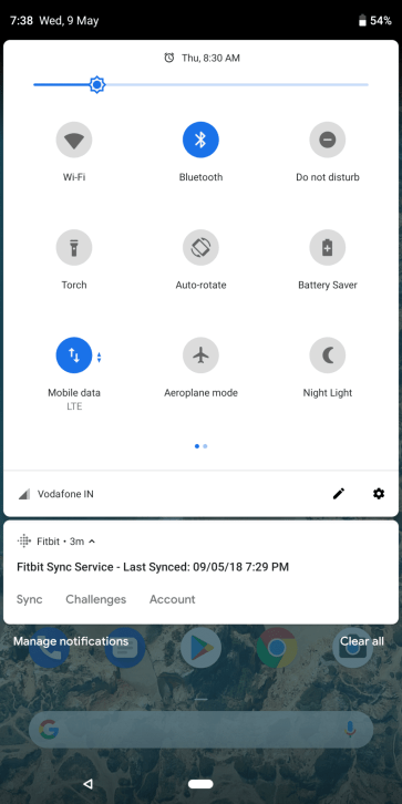 Android P Quick Settings