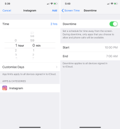 iOS 12 Screen Time Options
