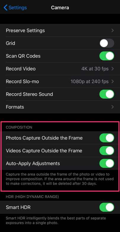 iPhone 11 Capture Photos Outside of Frame