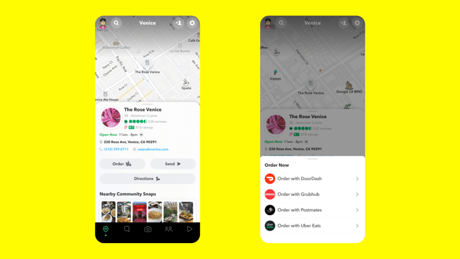 Snapchat Redesign 2020 Snap Map Final Local Businesses