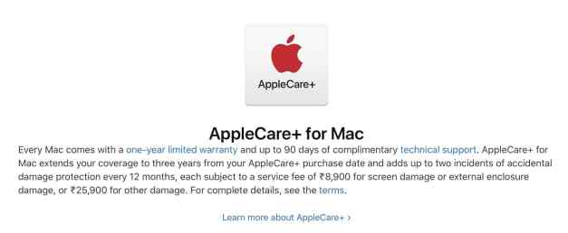 AppleCare+ Mac India