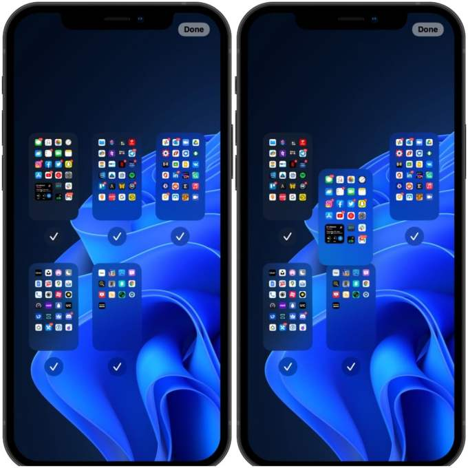 rearrange home screen pages iPhone ios 15