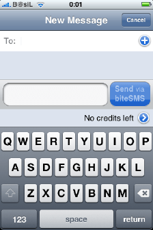 biteSMS send SMS