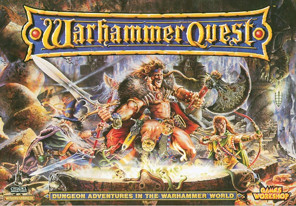 The classic Warhammer Quest cover from 1995
