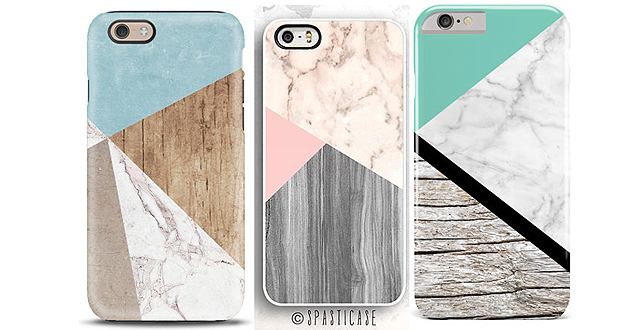 Marble and Wood iPhone Cases