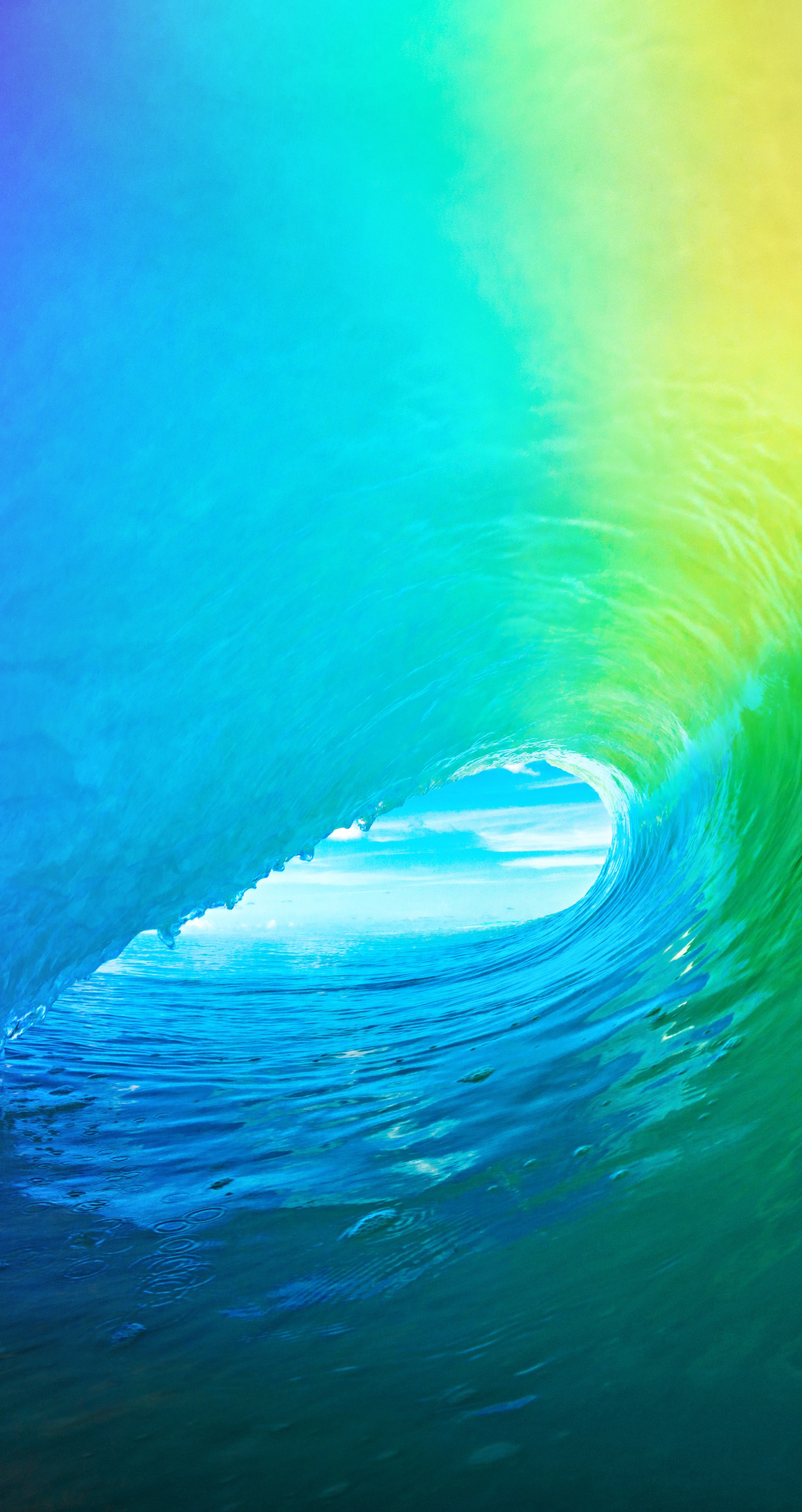 Wallpaper Fix For Iphone X Download The Colored Wave Default Ios 9 Wallpaper
