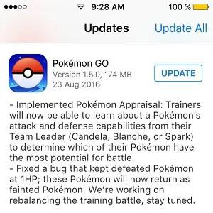 pokemon go 1 5