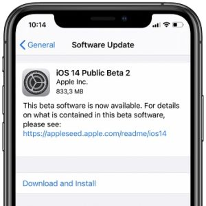 Download iOS 14 Public Beta 2