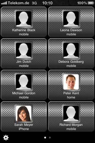 NoseDial app iphone 4