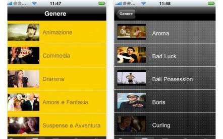visualizzare cortometraggi su iPhone
