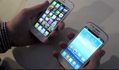 iPhone 5 vs Samsung Galaxy S3 Mini