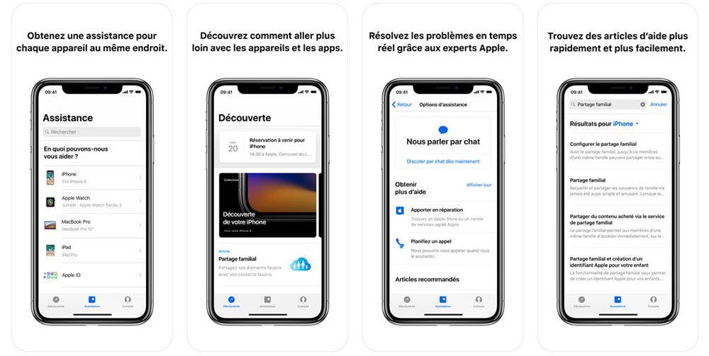 Apple met à jour son application Assistance avec plusieurs