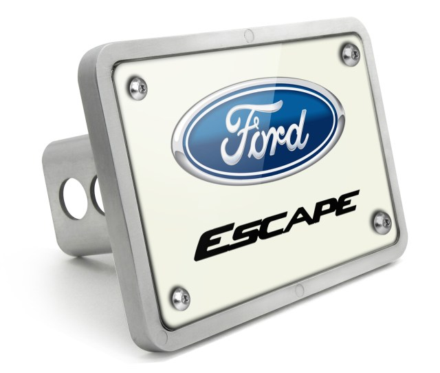 Ford Escape Uv Graphic White Plate Billet Aluminum  Inch Tow Hitch Cover