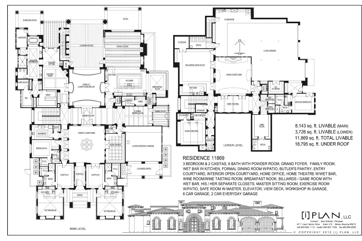 Floor Plans 10001 sq ft and up