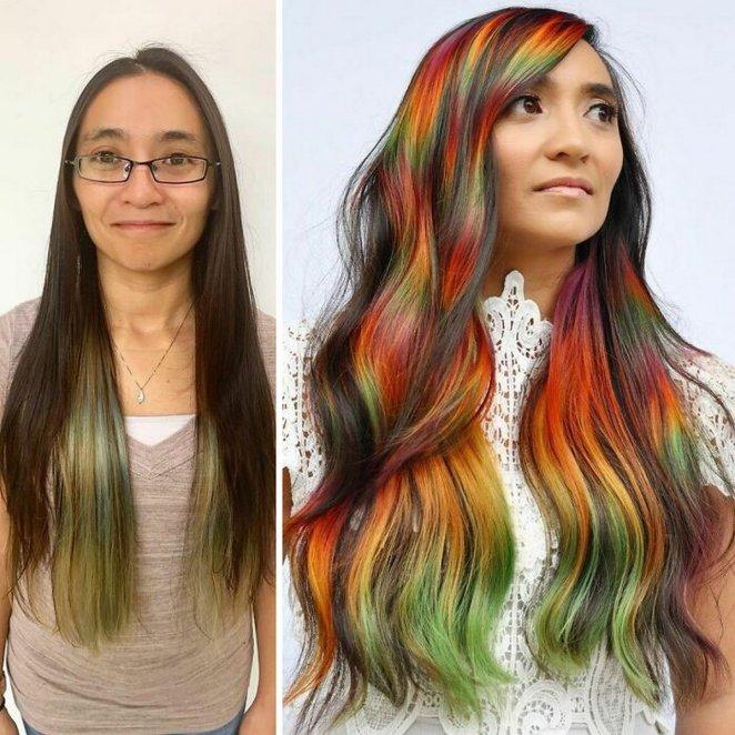 Ces femmes ont choisi une couleur insolite pour leurs cheveux
