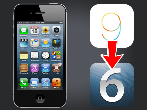 how to downgrade iphone 4s from ios 9 to ios 6 1 3 without shsh