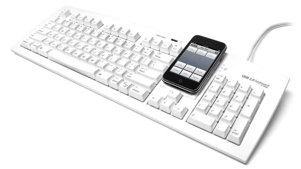 Matias lanza un teclado con soporte para iPod o iPhone