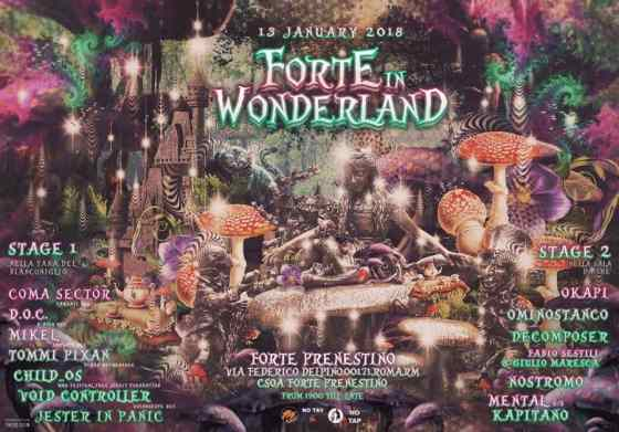 Forte In Wonderland flyer