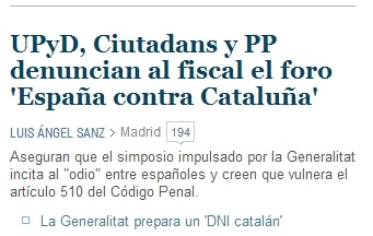 El Mundo Simposium España contra Cataluña
