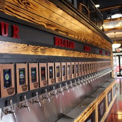 pour taproom wilmington, self-serve installation