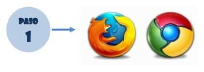 Acceder al navegador de internet Google Chrome o Mozilla Firefox