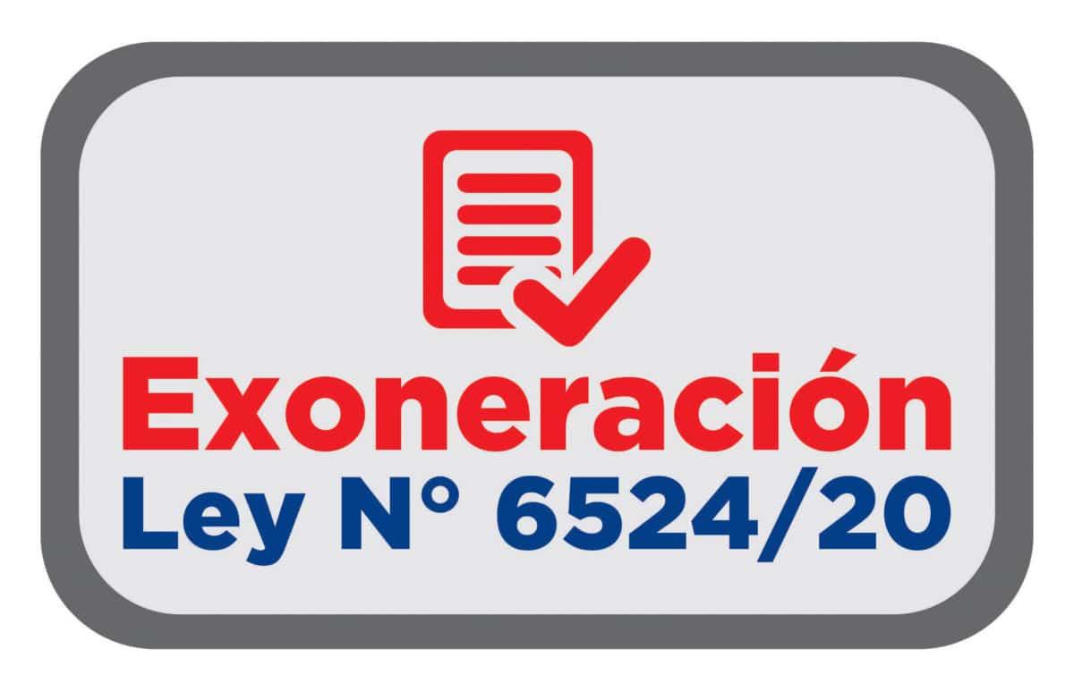 Ande Exoneración de Facturas según Ley 6524-20 boton