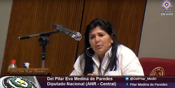 Fiscalía imputa a diputada colorada Del Pilar Medina por violar cuarentena sanitaria