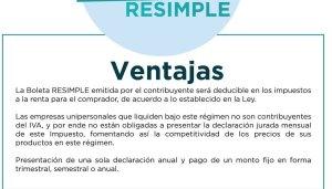 Resimple Impuesto a la Renta Empresarial IRE