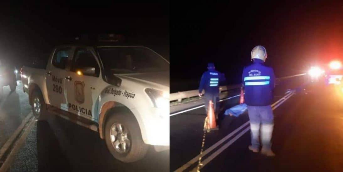 Se tiró de una patrullera dos autos le pisaron