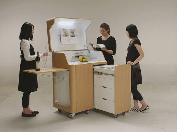 folding kitchen step stool semi custom cabinets reviews kenchikukagu furniture - ippinka