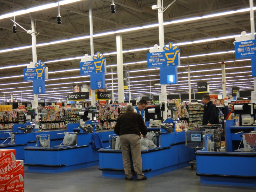 Image result for walmart checkout line photos
