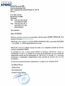 Recomandation Letter Barbu Nicolae - KPMG