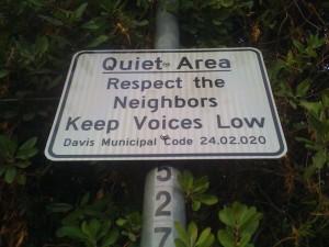 Be Quiet Sign
