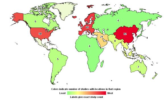 MSC clinical trials map