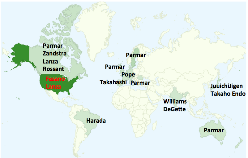 Stem Cell Person of the Year Award map