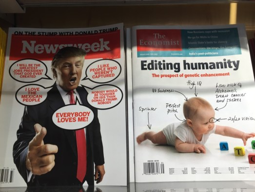 Human genetic modification and Trump