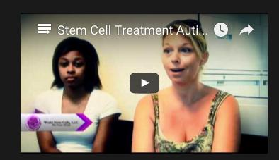 stem cell patient testimonial autism