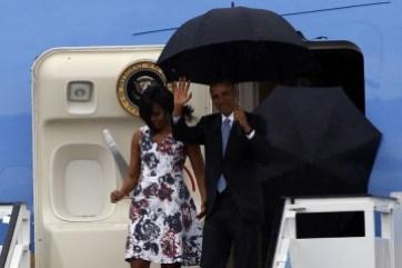 La llegada del presidente 44 de Estados Unidos coincidió con la entrada de un frente frío, antecedido por lluvia pero la visita de Obama a Cuba ya es historia.