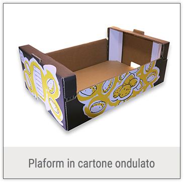 Plaform in cartone ondulato