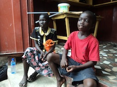 Ten-year-old Kobina (right) and 12-year-old Comfort Essuman (left) are hawkers at Sekondi beach in Ghana's Western Region.  / Credit:Sam Mark Essien/IPS