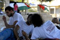 Activists on hunger strike in support of prisoners. / Credit:Jillian Kestler-D'Amours/IPS.