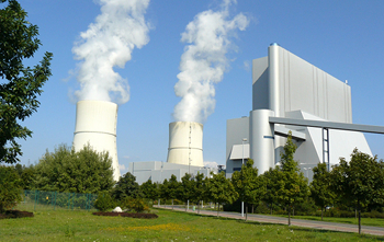 Schwarze Pumpe, a pilot thermal power plant south of Berlin that captures and stores carbon emissions, a method whose effectiveness experts doubt. / Credit:Vattenfall