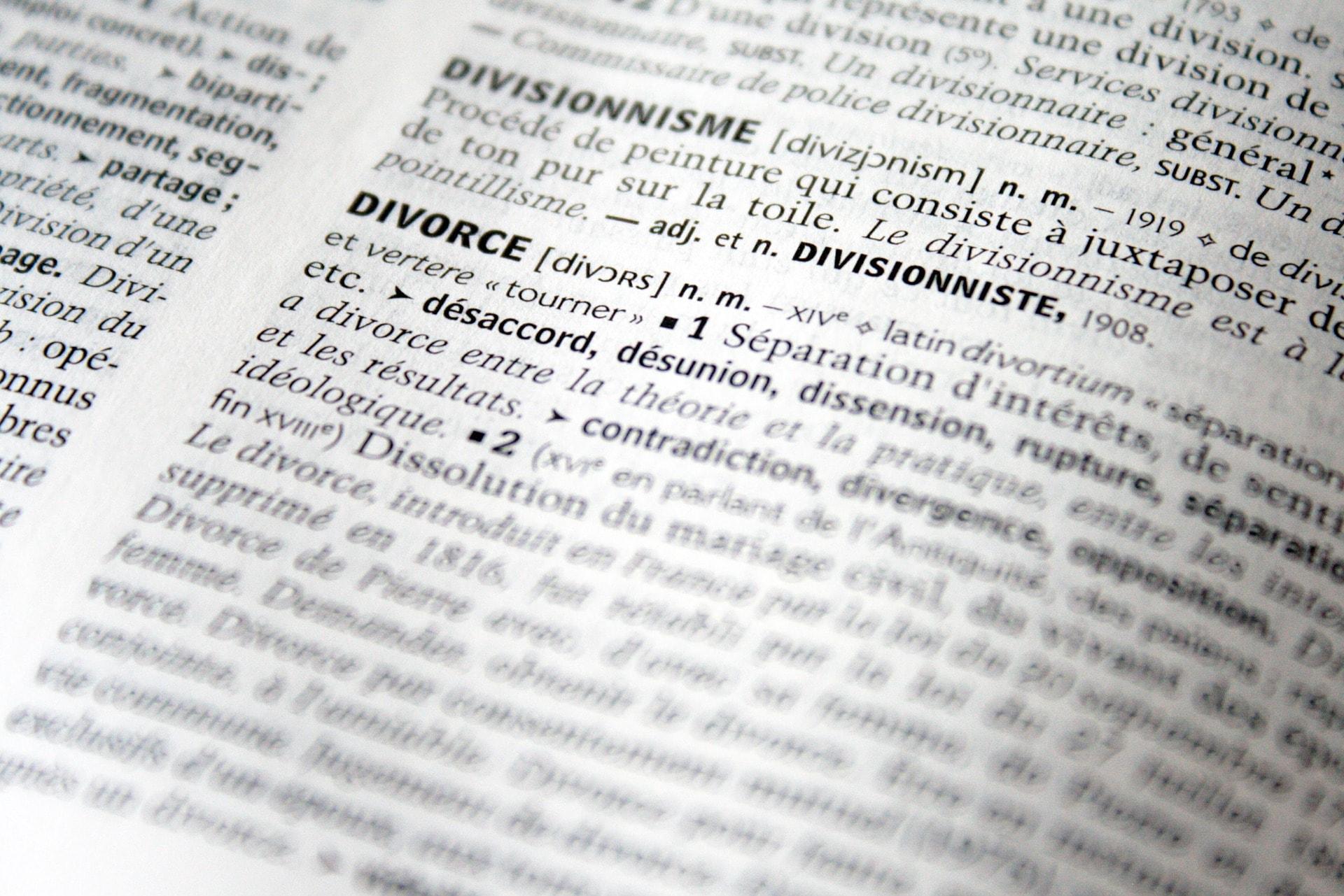 Droit de la famille, divorce