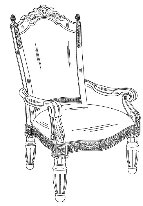 chair design patent brown desk cosmos furniture sued for copyright and infringement